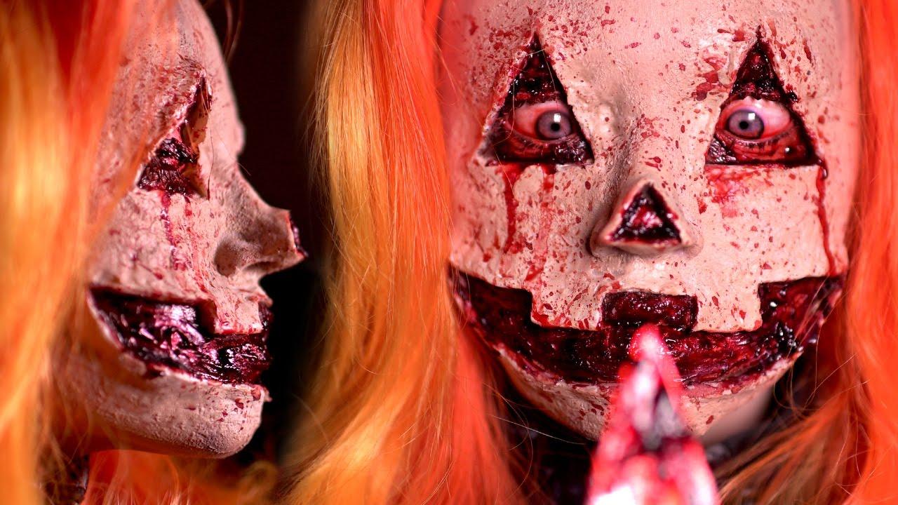 Jack O Lantern Halloween Makeup Tutorial Youtube - Gore-makeup