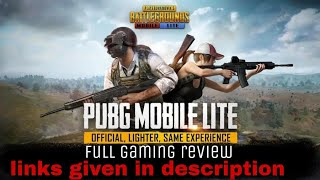 PUBG MOBILE LITE (Full gaming review,game play,links given in description)
