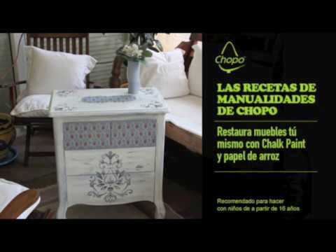 tutorial tcnica para combinar papel de arroz y chalk paint
