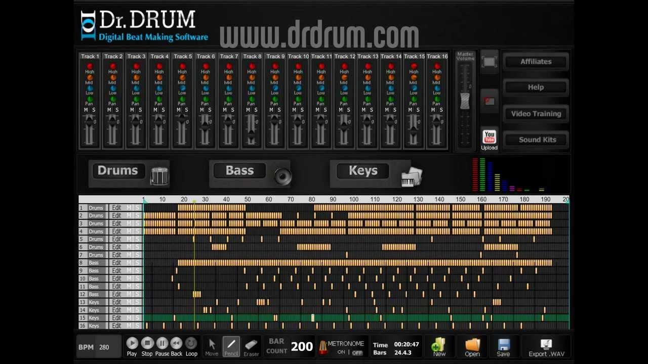 dr drum beat making software make sick beats youtube. Black Bedroom Furniture Sets. Home Design Ideas