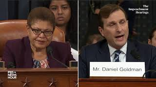 WATCH: Rep. Karen Bass' full questioning of Democratic counsel | Trump impeachment hearings