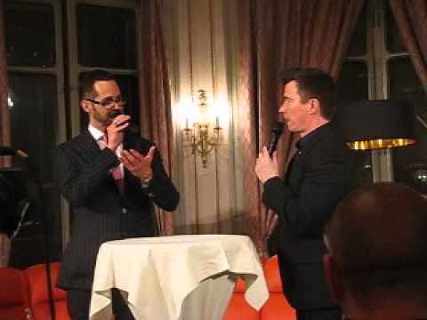 Rick Astley live in Lucerne, Hotel Schweizerhof, 10.5.2013 - Interview