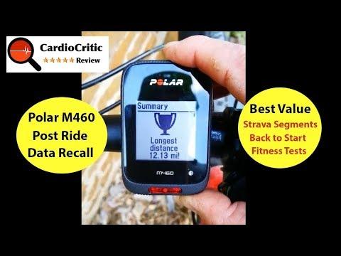 Polar M460 - post ride data recall
