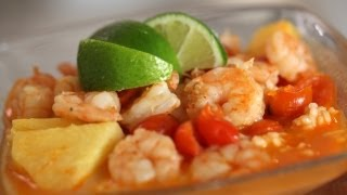 Red Curry: Shrimp, Pineapple, Tomatoes Recipe || Kin Eats