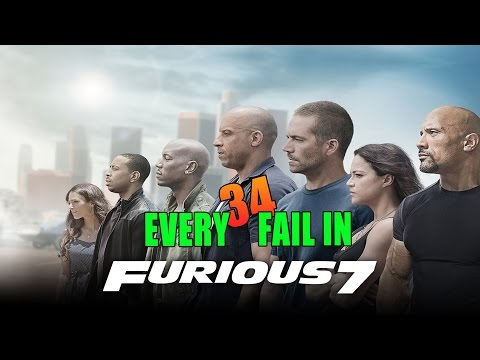 Every Fail In Fast Furious 7 | Everything Wrong With Furious Seven, Mistakes and Goofs