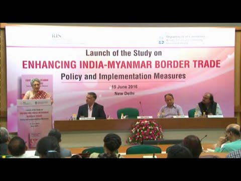 Commerce Secretary Ms Rita Teaotia launching  Study on India-Myanmar Border Trade