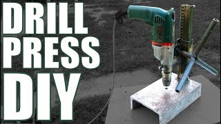 Homemade steel DRILL PRESS stand [PLANS]