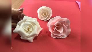 мК 3 способа как сделать мини розу из изолона 1мм