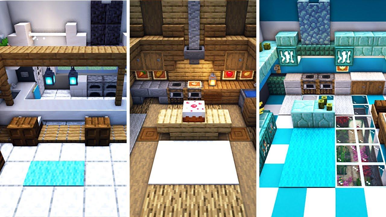 7 Minecraft Kitchen Interior Design Ideas To Build Tutorial Youtube
