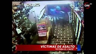 Cazanoticias captó brutal pelea en botillería de Quillota que terminó con dos heridos - CHV Noticias