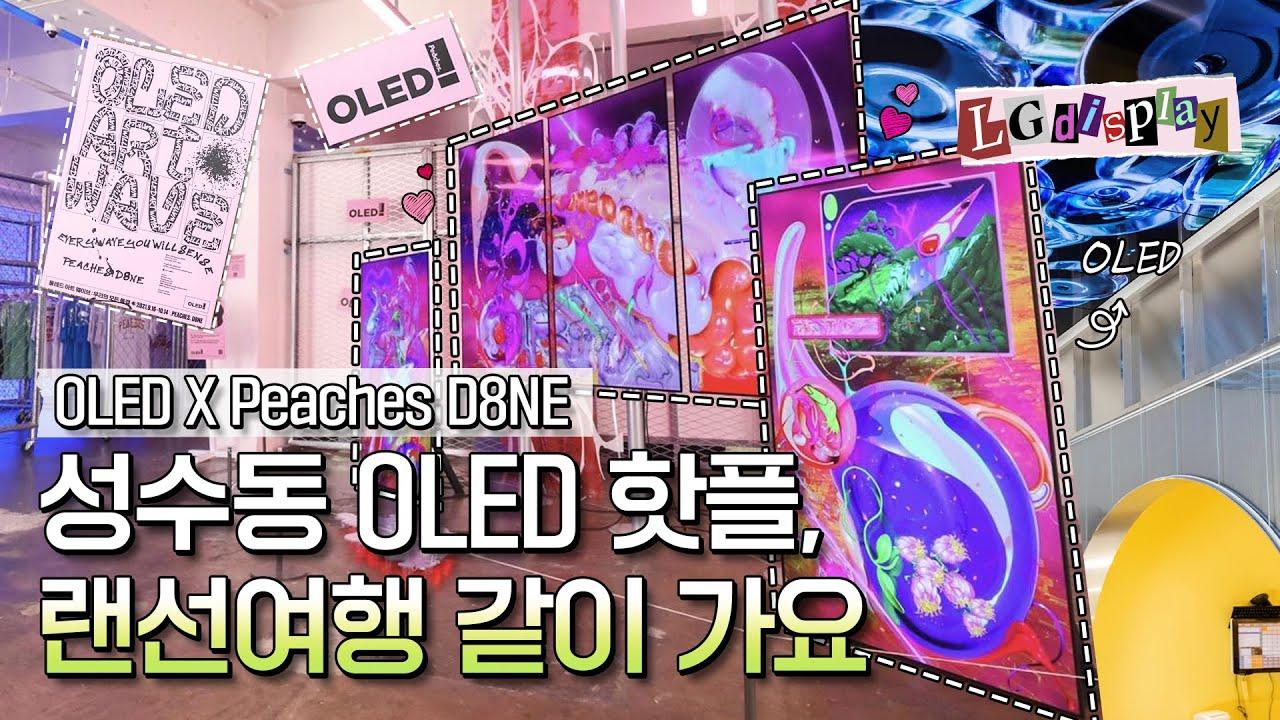 OLED와 만나 더 핫해진 성수동 인싸들의 성지 피치스 도원으로 가보자고!