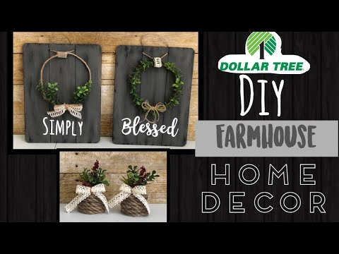 Dollar Tree DIY | Farmhouse Home Decor