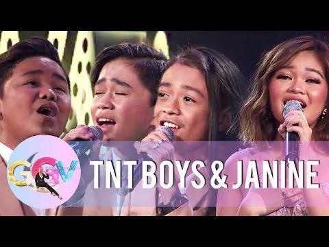 Janine And TNT Boys Take On The Otso-Otso Challenge | GGV