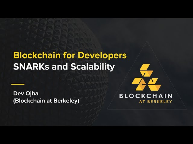 [Week 6] Spring 2020 Blockchain for Developers: SNARKs and Scalability