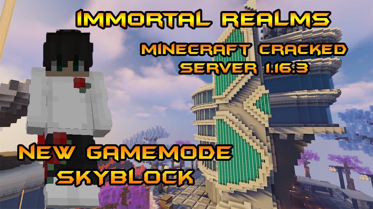 Immortal Realms Cracked Minecraft Skyblock Server 8.86.8 - YouTube