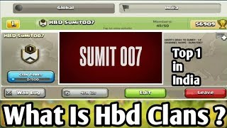 What is HBD Clans ?   How to make Your Hbd Clan Hindi   Clash of Clans