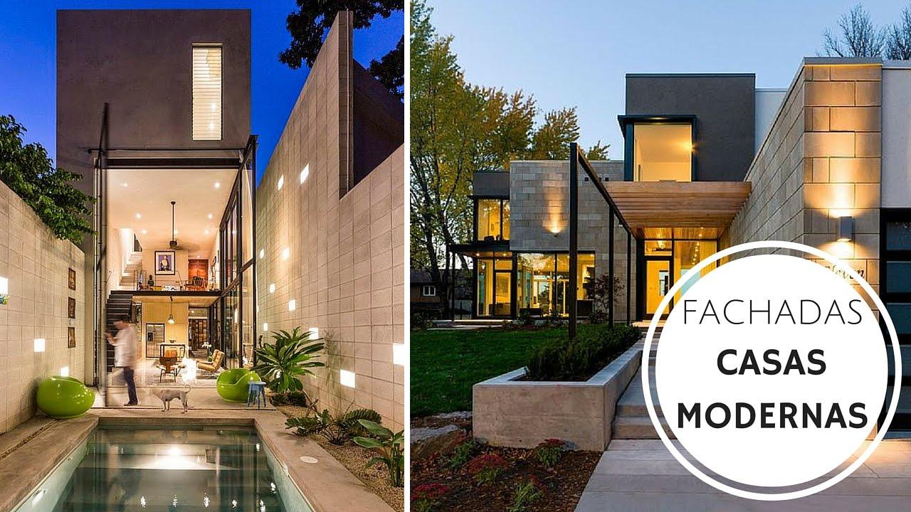 Fachada Casa Modernas Pequenas Novocom top