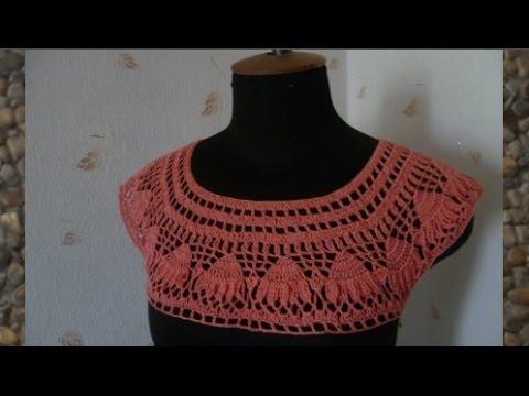 платье крючком сабрина часть 1 Youtube