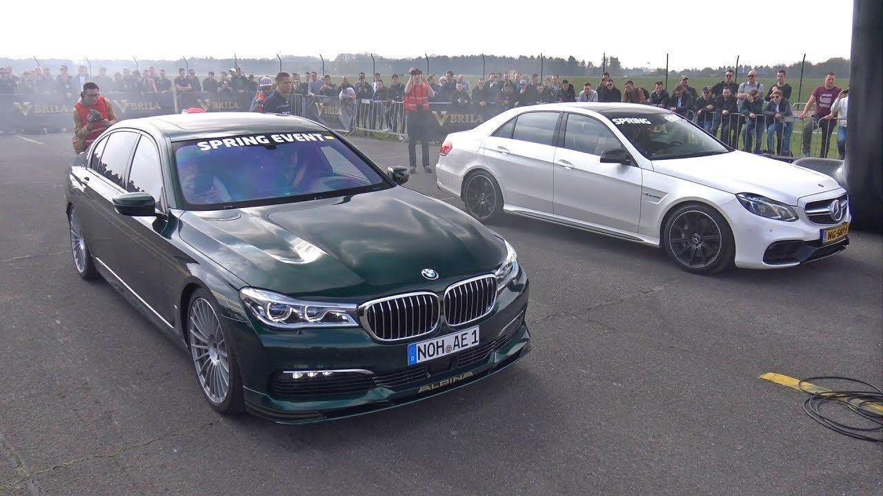 Mercedes-Benz E63 AMG срещу Alpina BMW B7 BiTurbo