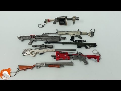 Fortnite Weapons Scar Heavy Sniper AWP Shotguns Grenade Launcher Toys Review