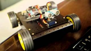 Arduino MEGA Sainsmart 4WD RobotTest Run on YouTube