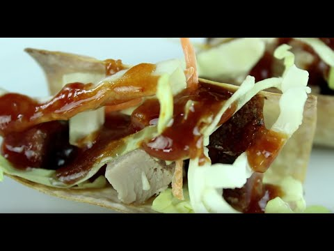 Game Day Appetizer -Wonton Tacos