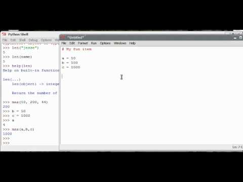 Python Tutorial (3) Functions and Help