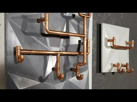 DIY Geometric 3D Wall Rack || Concrete & Copper Design (w/ GFRC mix)
