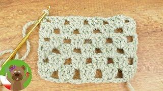 Wzorek na szydełko Granny Style | kratka ze słupków i oczek łańcuszkowych