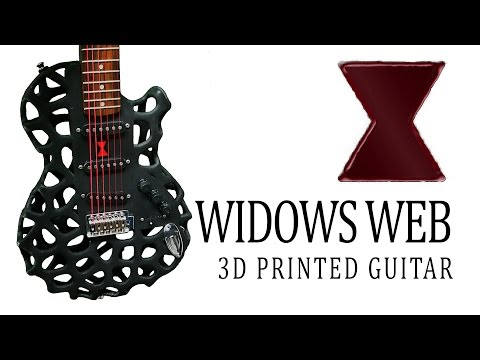 Widows Web 3D Printed Guitar
