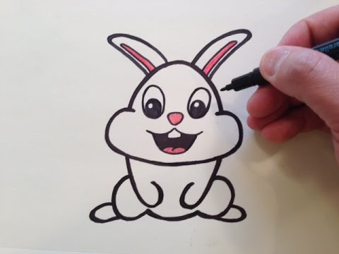 How To Draw A Cute Cartoon Bunny Rabbit New Youtube