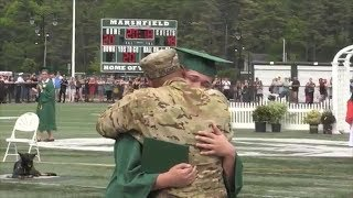 Deployed Military Dad Shocks Family with Surprise Homecoming at Son's Graduation