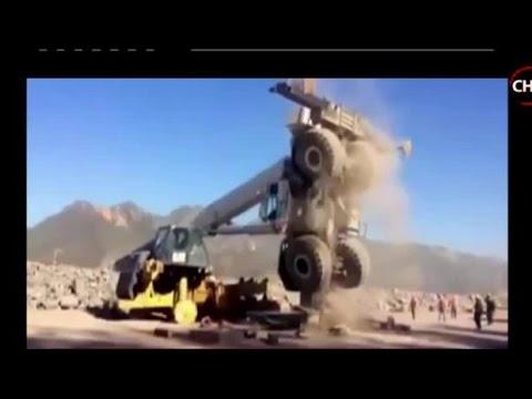 Impactante registro muestra accidente de grúa en faena minera - CHV Noticias