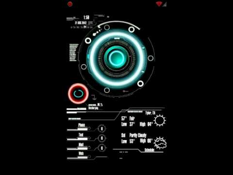 JARVIS Live Wallpaper - YouTube