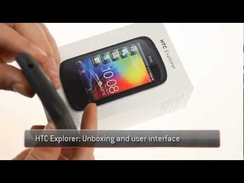 HTC Explorer unboxing and UI demo