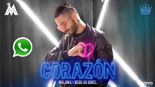 Maluma - Corazón(official video) ft. Nego de borel    Whatsapp status  Spanish & english song lyrics