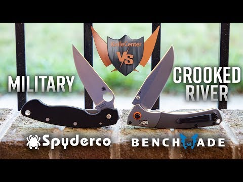 Spyderco Military Vs. Benchmade Crooked River - Big Blade Battle At KnifeCenter.com