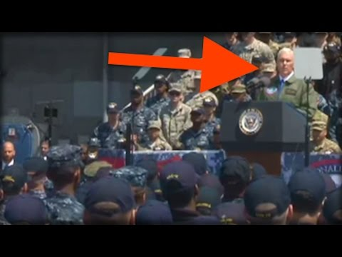 PENCE JUST STOOD IN FRONT OF THE TROOPS AND DID SOMETHING THAT WILL SCARE NORTH KOREA TO DEATH!