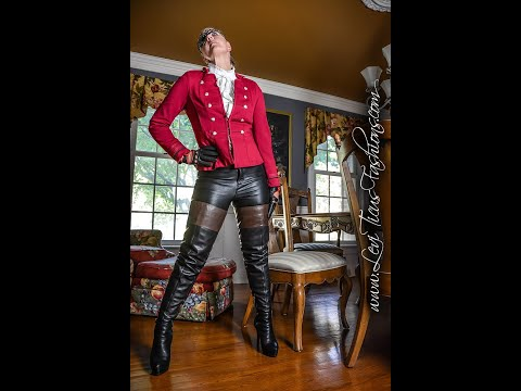 HOLIDAY MASQUERADE COSTUME LEATHER RIDING THIGH BOOTS PANTS GLOVES MILITARY OOTD from YouTube · Duration:  2 minutes 29 seconds