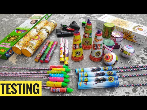 Testing new and unique Diwali firework stash 2019,firecrackers testing,Diwali crackers testing||CY