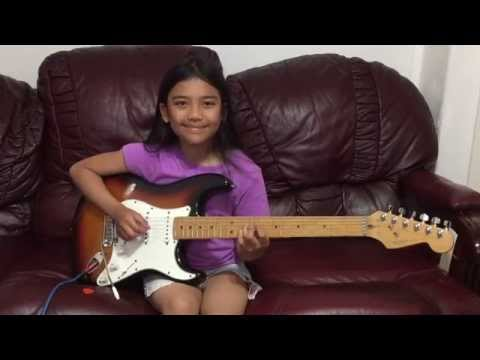 10 yr old Krizten Centino guitar cover of Sultans of Swing - Dire Straits