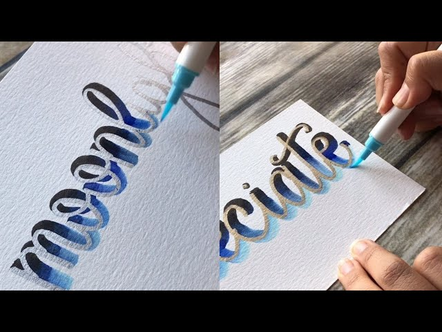 Best calligraphy lettering with a marker pen