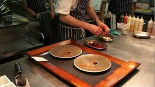 Plating Braised Beef Short Rib With Red Pepper At L'autre Pied, London