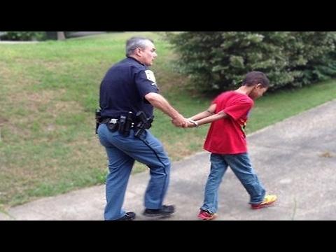 Little kid gets arrested! MUST WATCH!!!