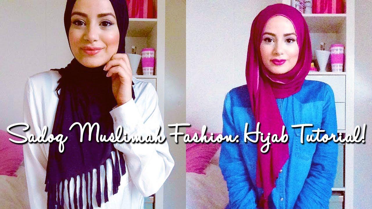 Hijab Tutorial : Sadoq Muslimah Fashion Wear! - YouTube