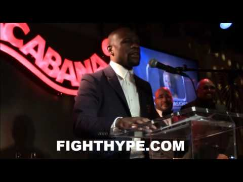 FLOYD MAYWEATHER REFLECTS ON CAREER AND ACCOMPLISHMENTS DURING BWAA ACCEPTANCE SPEECH