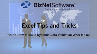 Excel Tips and Tricks: Dynamic Data Validation