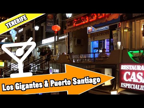 Los Gigantes and Puerto Santiago Tenerife Spain: Evening and nightlife