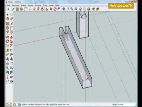 Sketchup Möbelbau Leicht Gemacht Mit Holzwerken 12 Youtube