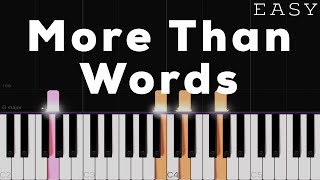 More Than Words - Extreme x Westlife | EASY Piano Tutorial